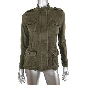 Express Womens Field Jacket XS Olive Green Zip Up